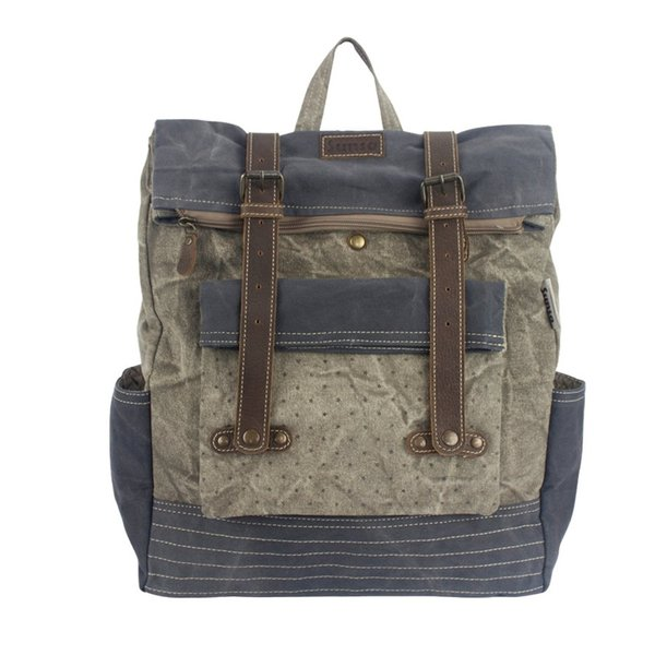 Sunsa Canvas Rucksack Grey Washed